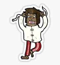 cartoon crazy mad man Sticker