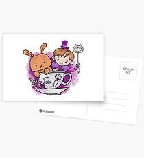 Mad hatter teacup party Postcards