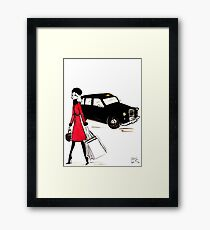Shopping on Regent Street Framed Print