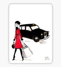 Shopping on Regent Street Sticker