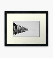 A Gloomy Day - Part II Black and White Framed Print