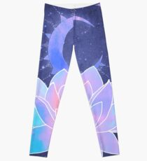 moon lotus flower Leggings
