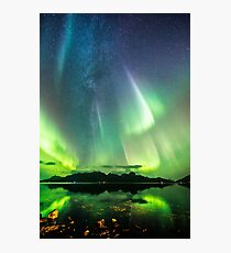 Milky Way and the auroras Photographic Print