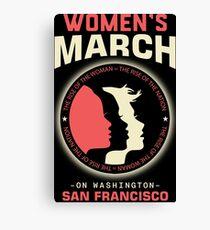 Women's March SAN FRANCISCO Canvas Print
