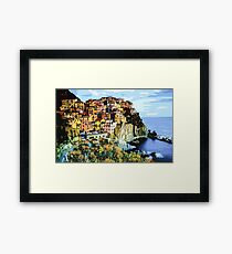 Clifftop View - Part I High Contrast Framed Print
