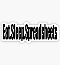 Eat Sleep Spreadsheets - Funny Accounting T Shirt  Sticker