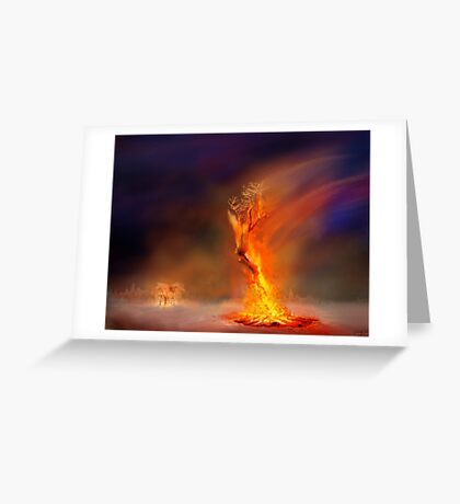 In The Heat Of Fire Greeting Card