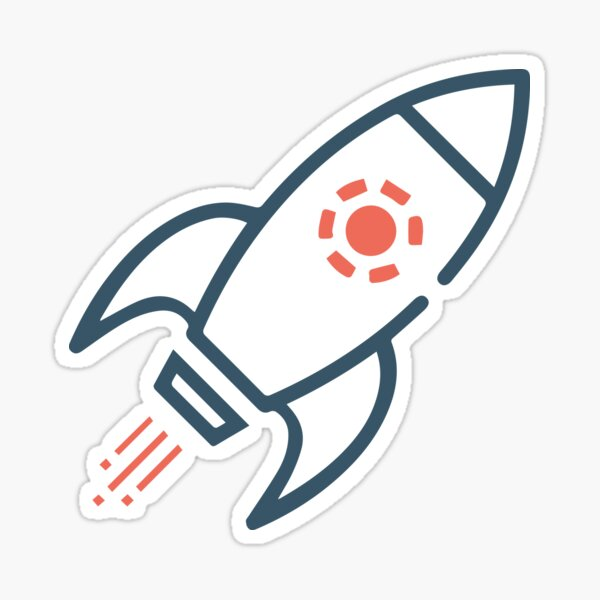 Rocket Start Up Sticker