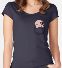 The Binding of Isaac, pocket Isaac Women's Fitted Scoop T-Shirt