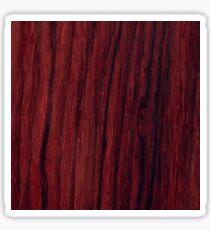 Deep red wood veneer design Sticker