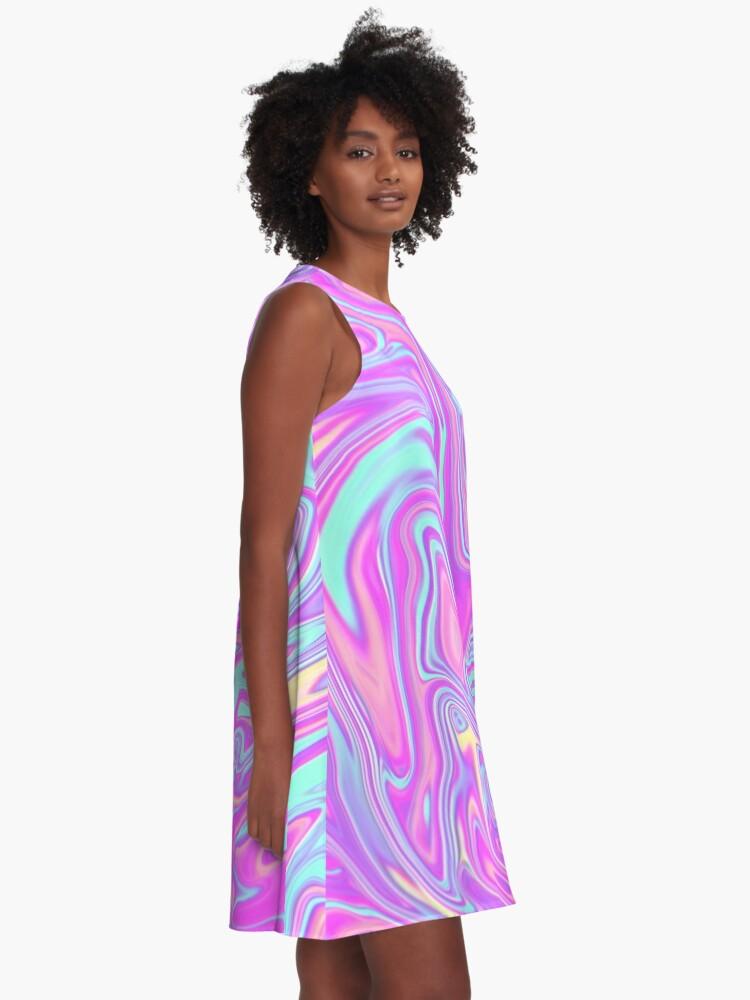 Alternate view of Liquid Rainbow A-Line Dress