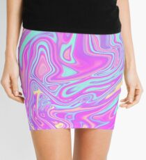 Liquid Rainbow Mini Skirt