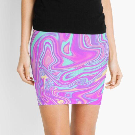 Liquid Rainbow Mini Skirt