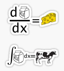 Cool Funny Maths Shirt (Dy/Dx) Sticker