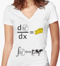 Cool Funny Maths Shirt (Dy/Dx) Women's Fitted V-Neck T-Shirt