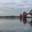 Firth of Forth Bridges at Sunset (Panorama) by Maria Gaellman