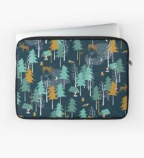 MOONLIGHT, Woodland, Camping, Moose Laptop Sleeve