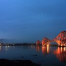 Firth of Forth Bridges at Twilight - Panorama by Maria Gaellman
