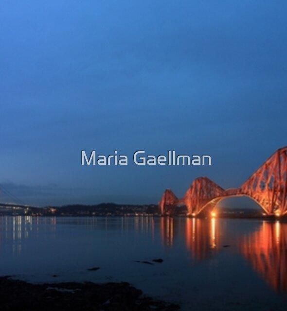 Firth of Forth Brücken in der Dämmerung - Panorama von Maria Gaellman