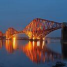 Forth Bridge at Twilight by Maria Gaellman