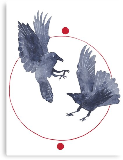 Playful Crows by Isabel Hunter