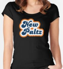 New Paltz - Retro 70s - Logo Women's Fitted Scoop T-Shirt