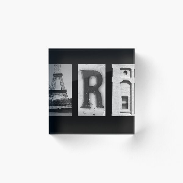 Paris Tennessee Sign From Photographs Acrylic Block