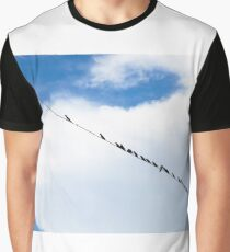 Birds hanging on a wire Graphic T-Shirt