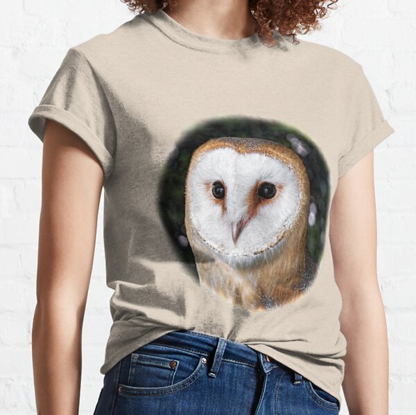 Bright Eyed Owl - Round Design Classic T-Shirt