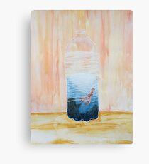 Full Octopus in Bottle Canvas Print