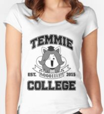Temmie College Women's Fitted Scoop T-Shirt