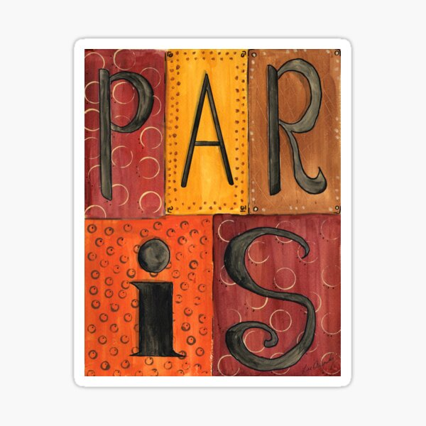 Paris Sign Sticker