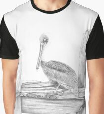 Brown Pelican Graphic T-Shirt