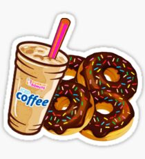 Dunkin' Donuts- Coffee and Donuts Sticker