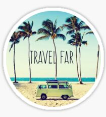Travel Far Sticker