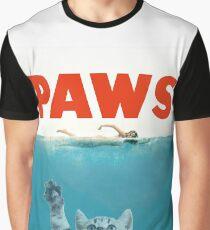 Paws - Cat Kitten Meow Parody T Shirt Graphic T-Shirt