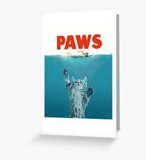 Paws - Cat Kitten Meow Parody T Shirt Greeting Card