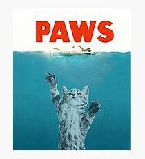 Tatzen - Katzen-Kätzchen Meow Parodie-T-Shirt Fotodruck