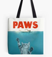 Paws - Cat Kitten Meow Parody T Shirt Tote Bag