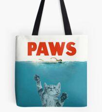 Paws - Cat Kitten Meow Parody T Shirt Tote Bag