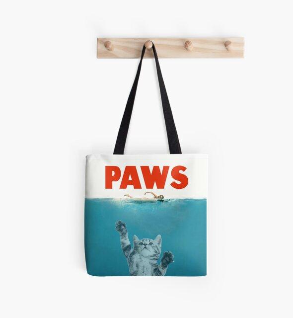 Paws - Cat Kitten Meow Parody T Shirt by JamesK1