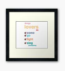 Falsettos Things Lovers Do in Color Framed Print