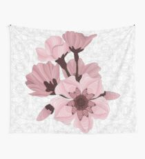 Cherry Blossoms - white Wall Tapestry