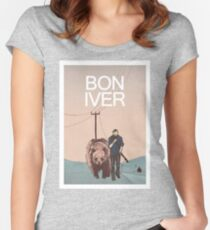 Bon Iver. Women's Fitted Scoop T-Shirt
