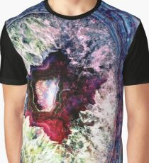 Blue Jade & Magenta Agate Graphic T-Shirt