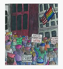 Stronger Together - Women's March 2017 Photographic Print