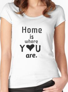 Home is where you are!  Women's Fitted Scoop T-Shirt