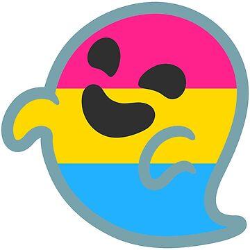 Pan Pride Android Ghost Emoji by baiiley