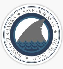 save our sharks Sticker