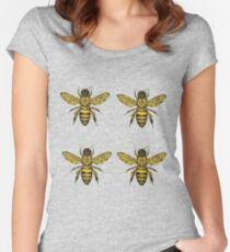 Bees Women's Fitted Scoop T-Shirt